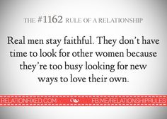 Relationship with a real man