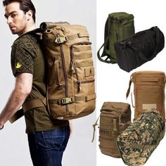 Outdoor #military tactical #rucksack backpack daypack shoulder bag #camping hikin,  View more on the LINK: 	http://www.zeppy.io/product/gb/2/311102152697/