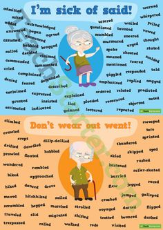 Teaching Resource: A set of 11 synonym posters to help your students choose words other than said, went, bad, get, good, nice, see, small and big.
