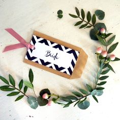 Spots+Stripes design wedding favour envelope with place card tag Striped Wedding, Candy Stripes, Card Tags, Stripes Design, Sticker Design, Wedding Stationery, Wedding Favors, Envelope, Place Cards