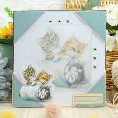 A wonderful paper craft collection featuring a variety of your favourite feline friends! Kittens Cutest, Cats And Kittens, Hunkydory Crafts, Persian Kittens, Luxury Card, Russian Blue, Cat Cards, Card Making Inspiration, Cat Breeds