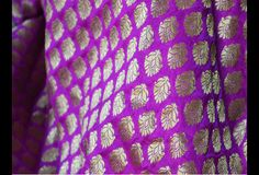This is a beautiful pure benarse silk brocade floral motifs design fabric in Purple and Gold. The fabric illustrate small golden woven motifs on purple background.  You can use this fabric to...