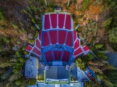 """artbyart_la: """"Greek Theatre is a 5870-seat music venue located at Griffith Park Los Angeles California. It was built in 1929 opening on September 29 of that year. The Greek Theatre is owned by the city of Los Angeles and is operated by SMG. Designed by architect Samuel Tilden Norton the theatre stage is modeled after a Greek temple. unrealdrones #drones"""