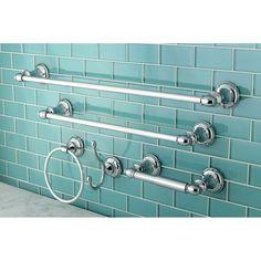 Kingston Br 5 Piece Bathroom Accessory Set In Polished Chrome