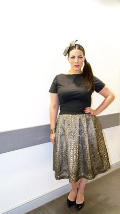 Top: custom made by Cherry Sue Dress: custom made by Jan Boelo Shoes: L.K. Bennett Tiara made by Anoek van Nunen