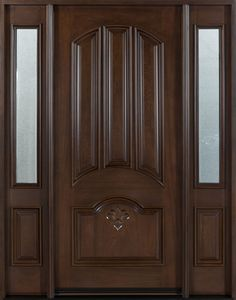 Mahogany Solid Wood Front Entry Door Double Master bedroom