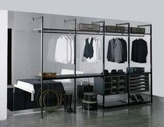 Marvelous Remarkable Black Walk In Wardrobe With Amazing Clear Glass Back Panel  Design By Piero Lissoni. Walk In Closet: Smart Modern Organized Clothing  Ideas