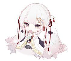 Anime Neko, Cute Anime Chibi, Kawaii Chibi, Kawaii Art, Kawaii Anime Girl, Anime Art, Fantasy Character Design, Character Design Inspiration, Character Art