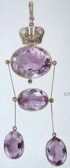 Faberge Amethyst Pendant