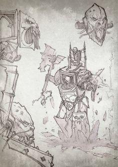 chaos info lineart night_lords savier sketch space_marines terminator
