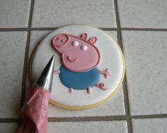 "Biscotti Peppa Pig ""George"" Peppa Pig Birthday Cake, Birthday Candles, Goodies, Parties, Desserts, Food, Calendar, Sweet Like Candy, Fiestas"