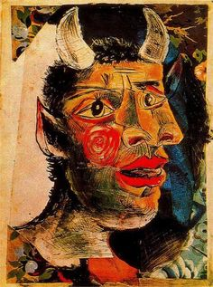 blueruins:    Head (c. 1938) by Pablo Picasso