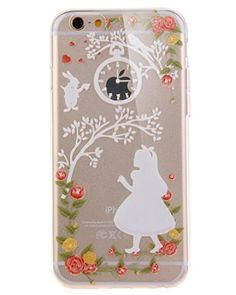iPhone 5C Case,iPhone 5C TPU Case,UZZO[Slim Fit] [Scratch-Resistant] Clear TPU Gel Rubber Skin Silicone Protective Case, Cute Cartoon Dolphin Penguin Flower Fairy Print Case For iPhone 5C - Angel Girl