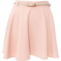 Miso Formal Skater Skirt ($46) ❤ liked on Polyvore