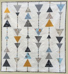 Abbey Lane Quilts pdf pattern - requires 10 FQ, 4 yd background