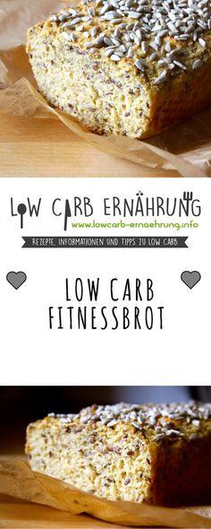 Low Carb Rezept für leckeres, kohlenhydratarmes Fitnessbrot. Low Carb und einfach und schnell zum Nachbacken. Perfekt zum Abnehmen.