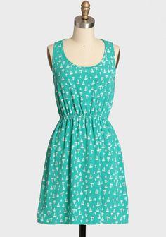 Open Sea Dress #sailboats #boats #summer #aqua #dress