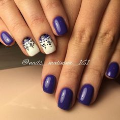 Beautiful patterns on nails, Evening nails, Exquisite nails, Half moon nails 2016, Luxury nails, Nail designs for short nails, Nails ideas 2016, New…