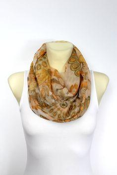 Pastel Silk Scarf Silk Infinity Scarf Silk Loop by LocoTrends