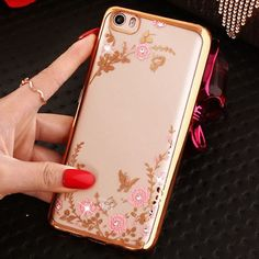 Luxury Diamond Flower with Butterfly Clear Cover for Xiaomi Mi5 Mi4s Mi4c Mi4i Mi 5 4 Case for Redmi Note 3 Pro 2 Coque Silicone
