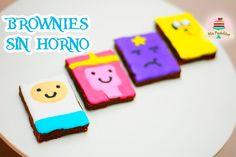Brownies de nutella sin horno con 2 ingredientes decorados con glasse