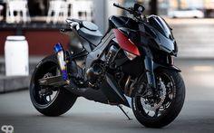 Kawasaki Z1000, 2016 bikes, superbikes, black Kawasaki