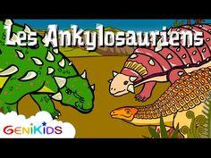 Les Ankylosauriens - 1ère partie - La vie des dinosaures - Dessin animé éducatif Genikids - YouTube