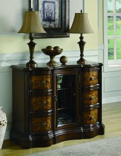 Traditional Brass Antique Brass Cabinet By Coaster Furniture