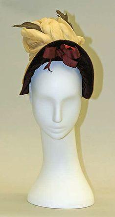 Hat Date: ca. 1880 Culture: American or European Medium: straw