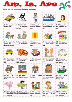 Am, Is, Are Please re-pin 😍💞 how to make an essay outline, #how #to #make #an #essay #outline English Worksheets For Kindergarten, 1st Grade Math Worksheets, English Activities, Worksheets For Kids, Verb Worksheets, English Study, English Lessons, Learn English, English English