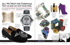 Originals by Andrea necklace featured in All I Want For Christmas! article in Canadian Hairdresser Magazine.