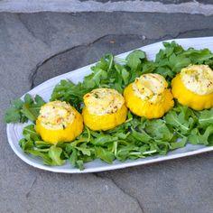 #recipe #pattypansquash with ricotta filling