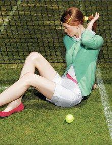 Tennis//Boden//Crew Neck Cashmere Cardigan