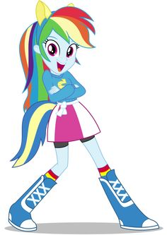 Rainbow Dash EqG: Wondercolts Pose by CaliAzian on DeviantArt
