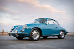 Of the 310 produced, this 1963 Porsche 356 B Carrera 2 is one of just 30 that came equipped with an electric sunroof, making it one rare ride. The car also features chrome wheels, wood steering wheel, and a lowered. Porsche 356, Porsche 2017, Porsche Sports Car, Motorcycle Wheels, Car Wheels, Automobile, Mustang Wheels, Vintage Porsche, Chrome Wheels