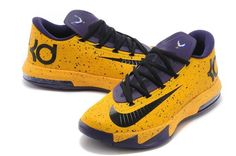 half off 19625 1465b Black Nike Mens Shoes Zoom Kd Vi Mvp Yellow Purple Black Nike Shoes, Black  Nikes