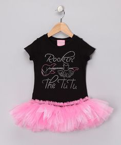 Take a look at this Black 'Rockin the Tutu' T-Shirt Tutu - Infant, Toddler & Girls by T-Shirt Tutus on #zulily today!