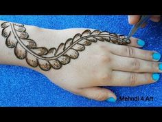 Most Easy Simple Mehndi design for hands Mehndi Desing, Unique Mehndi Designs, Mehndi Designs For Hands, Mehndi Art, Henna Designs, Mehndi Designs For Beginners, Mehndi Patterns, Mehndi Brides, Mehndi Tattoo