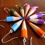 Color Your World, earrings-  for my teacher friends!!