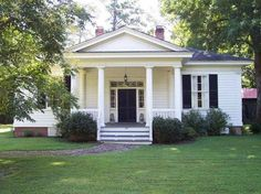 43 Stylish Antebellum Homes Ideas For You Greek Revival Architecture, Classical Architecture, Federal Architecture, Southern Architecture, Residential Architecture, Greek Revival Home, Antebellum Homes, Up House, River House