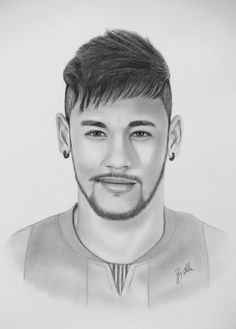 Neymar Jr.  Drawing by Sergio Batlle  #Barcelona_FC #Barça #Barcelona