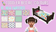 Simtasticjess — TODDLER BED RE-COLORS! By: Simtasticjess...