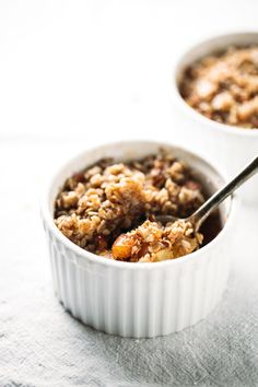 Five Minute Single Serving Apple Crisp - three minutes in the microwave and voila!