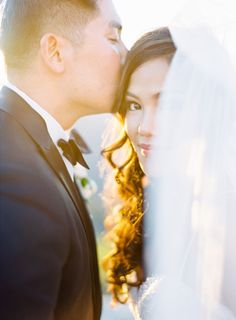 Dreamy golden hour moment: http://www.stylemepretty.com/2016/06/28/a-stunning-mountaintop-wedding-with-a-meaningful-details/ | Photography: The Great Romance - http://thegreatromancephoto.com