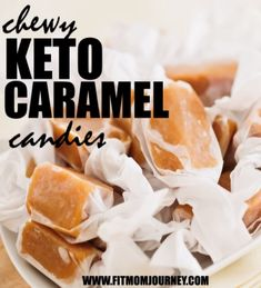 Ready for a truly CHEWY Keto Caramel Candy recipe? Mine will blow your mind! Hands down the BEST Chewy Keto Caramel recipe out there! Low Carb Candy, Keto Candy, Low Carb Sweets, Low Carb Desserts, Low Carb Recipes, Healthy Candy, Ketogenic Recipes, Caramel Recipes, Candy Recipes