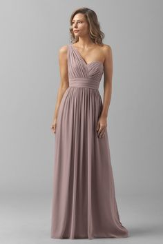 $261 (orig $290) at Bella Bridesmaids | Watters Maids Dress Charlotte | color mink or stone