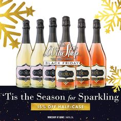Pop the cork on the holidays! These wines will add lively bubbles and a sweet sparkle to your holiday celebrations. This special features three bottles each of the le Cadeau Semi-Seco Sparkling Wine and le Cadeau Rosé Sparkling Wine. Wine Shop At Home, Napa Ca, Wine Education, Wine Deals, Wine Refrigerator, Gifts For Wine Lovers, Sparkling Wine, Fruit Juice, Simple Pleasures
