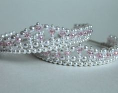 Pink Hearts and Crystal Princess Tiara by CreativeCalling1 on Etsy