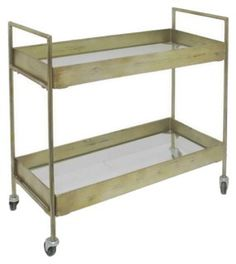 Larissa Bar Cart, Antiqued Gold | Basics for Less | One Kings Lane