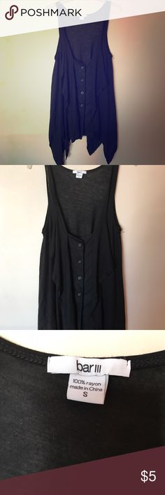 Urban outfitters Bar III button up tank! Super cute tank from urban outfitters. Really great condition, very light weight feel. Button up accent, can be paired with tons of styles. Asymmetrical fit. Size S. retail value is 32$. Great deal, perfect for summer. Urban Outfitters Tops Tank Tops